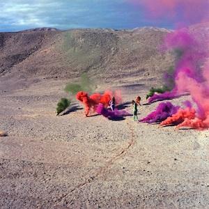 Judy Chicago installation of smoke