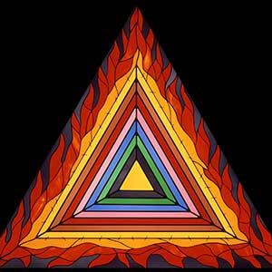Bright triangle representing Holocaust